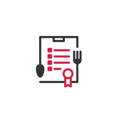 food certificate certified logo icon vector image