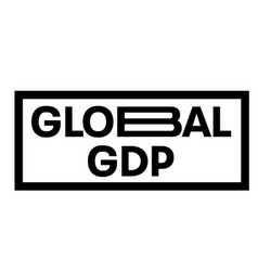 Global gdp stamp typographic stamp vector