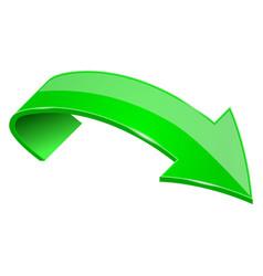 green shiny 3d arrow vector image