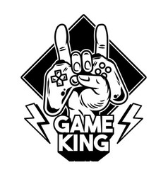 Hand game king which keep modern gamepad vector