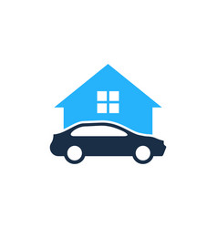 home automotive logo icon design vector image