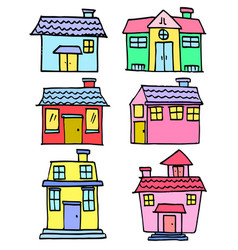 House set hand draw vector