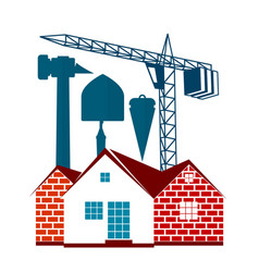 housing construction symbol for business vector image
