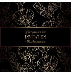Invitation decorative golds 48 vector