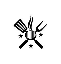 Logo restaurant barbeques vector