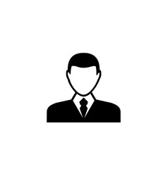 man avatar male user flat icon vector image