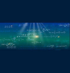 mathematical formulas abstract background with vector image