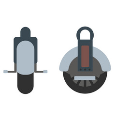 mono wheel isolated roller scooter vector image