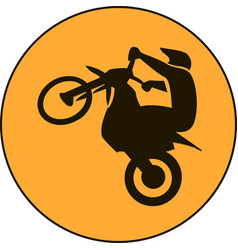 Motocross enduro free-ride sign vector