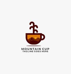 mountain design template vector image