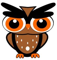 OwlBigEyes vector image