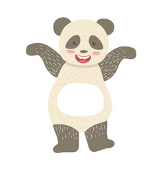 Panda bear cute toy animal with detailed elements vector