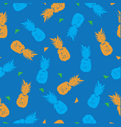 pineapple farm-fruit delight seamless repeat vector image