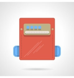 Power counter flat color icon vector image