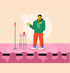 professional comedian performing in stand up show vector image