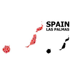 Red starred pattern map las palmas province vector