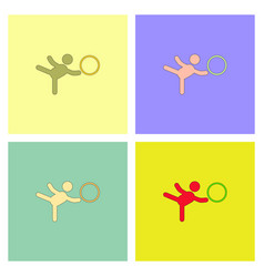 Rhythmic gymnastics design collection vector