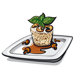 Risotto with mushrooms vector