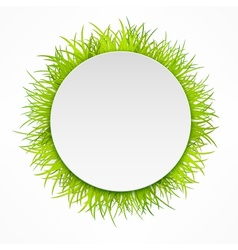 Round grass icon vector image