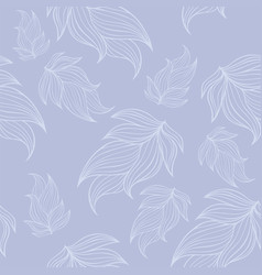 seamless floral background pattern in blue color vector image