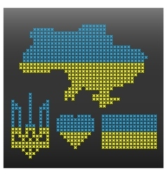Set Ukrainian symbolism vector