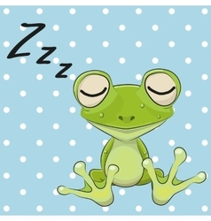 Sleeping Frog vector