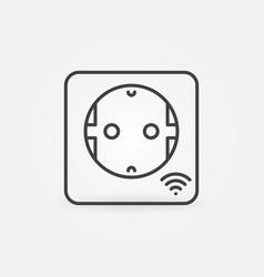 smart socket minimal icon in thin line vector image