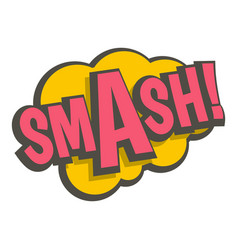 Smash comic text sound effect icon isolated vector