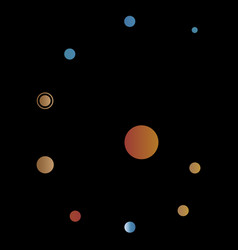 solar system graphic vector image