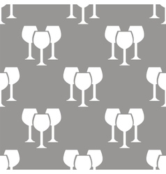 Stemware seamless pattern vector image