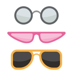Sunglasses icons set vector
