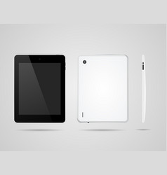 tablet on three sides to back and one side vector image