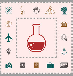 test-tube with bubbles symbol icon elements for vector image