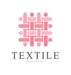 Textile original logo design creative sign for vector