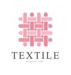 textile original logo design creative sign vector image