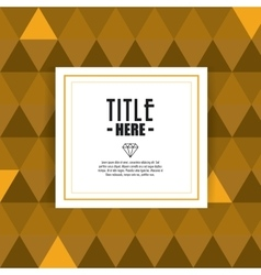 Tiangle icon Cover background graphic vector