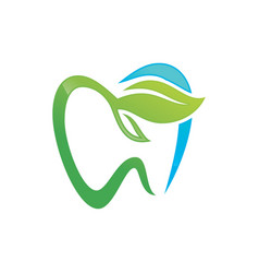 Tooth dental logo design vector