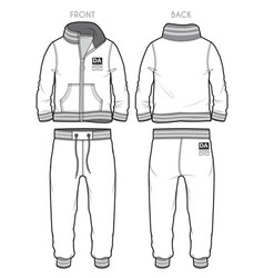 Tracksuit with ribbed cuffs vector