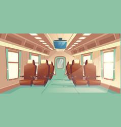 Train cabin salon in railway carriage vector