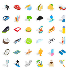 trophy icons set isometric style vector image