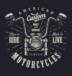 Vintage motorbike monochrome logotype vector