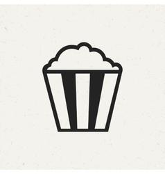 Vintage popcorn icon vector