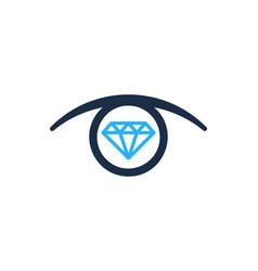 Vision diamond logo icon design vector