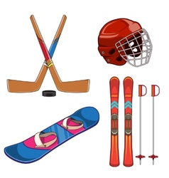 Winter sports collection vector image