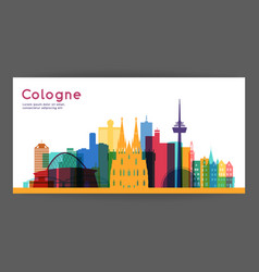 cologne colorful architecture vector image
