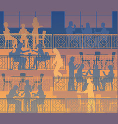 dining terraces vector image vector image