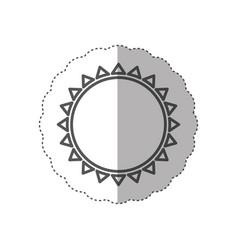 figure beautiful sun abstract icon vector image