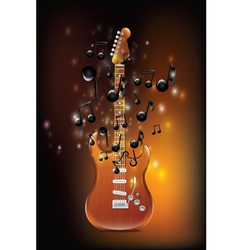 Guitar With Melody vector image