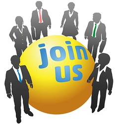 Join up with business people ball vector image vector image