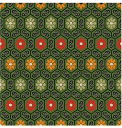 seamless chinese traditional floral pattern vector image vector image